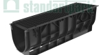 Комплект: Лоток водоотводный пластиковый PolyMax Basic DN300 H348 с чугунной решеткой кл. С