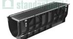 Комплект: Лоток водоотводный пластиковый PolyMax Basic DN300 H348 с стальной решеткой кл. А